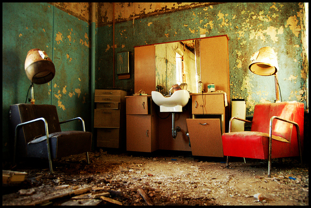 Urban decay - abandoned hairdressers