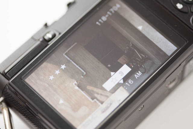 Setting an image rating for a photo in camera