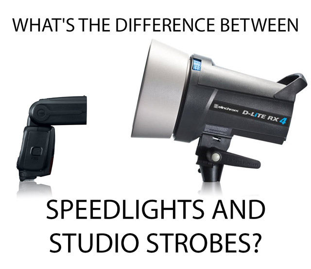 What's the difference between Speedlights and Studio Strobes?