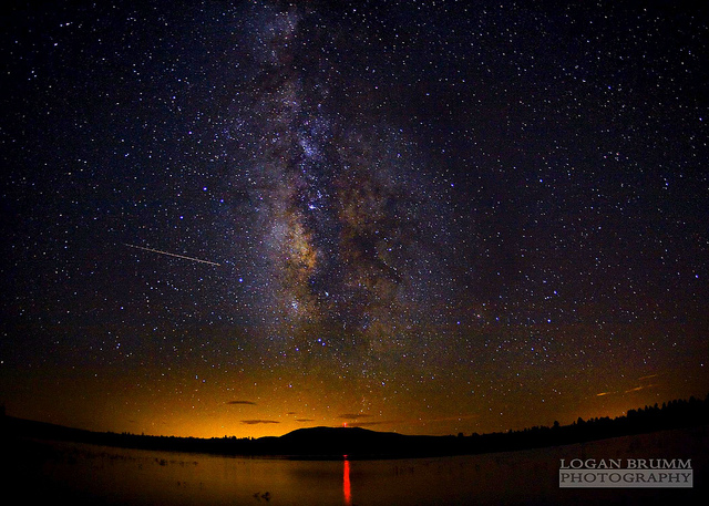 Milky Way over Lake Mary, Flagstaff - AZ - Perseids Meteor Shower - tripod and remote shutter release used to avoid camera shake