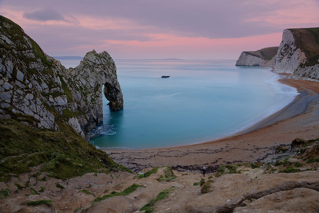Durdle Door on a January day, early morning