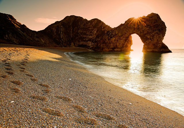 Durdle Door on a January day, mid-morning