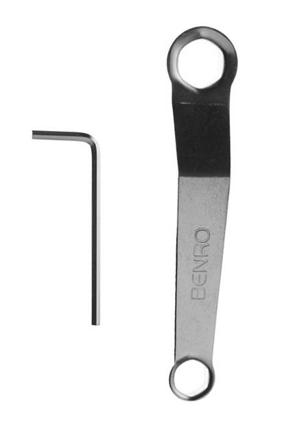 Wrench and allen key for adjusting tripod