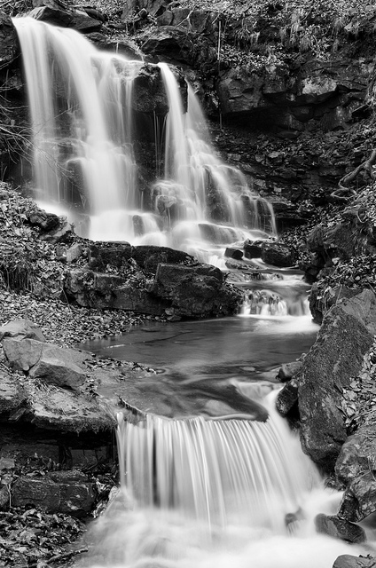 Local waterfall - edited by combing three JPEG images together