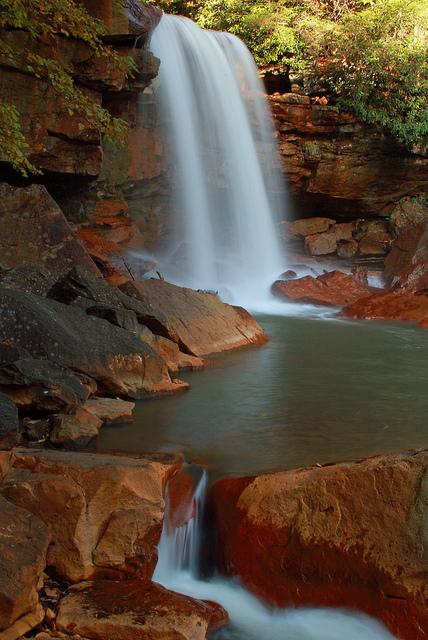 Long exposure of Douglas Falls, West Virginia - 1.3s exposure at f/22, ISO 100