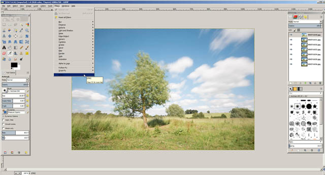 Images loaded in GIMP as layers in single document