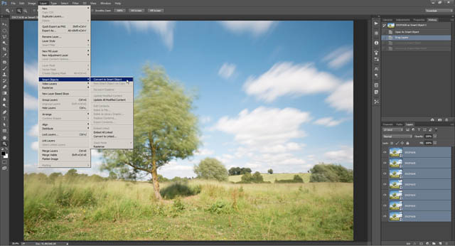 Images loaded as layers in a single Photoshop document