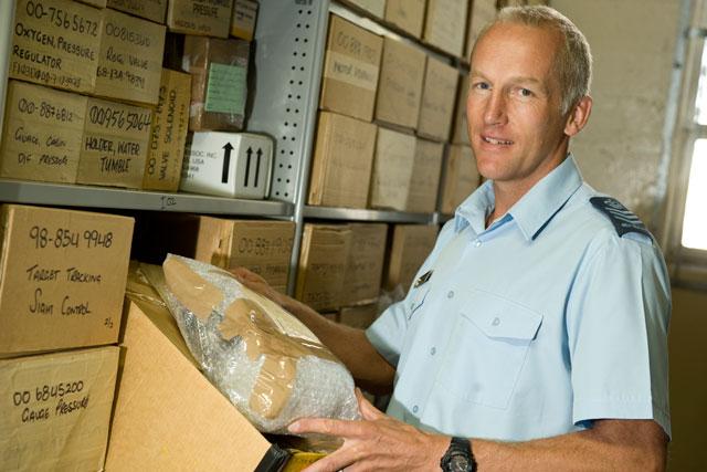 Environmental portrait in storage room
