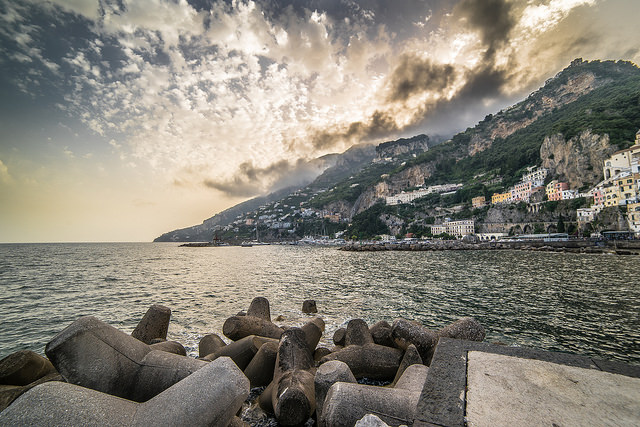 Amalfi, Campania, Italy - landscape image where everything is in focus, from the foreground to the background