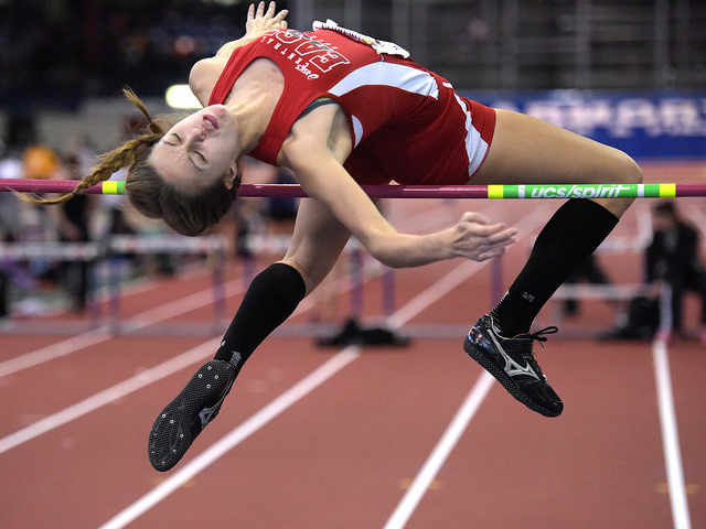 2014 Indoor Track - Bishop Loughlin Games - fast shutter speed used to freeze action