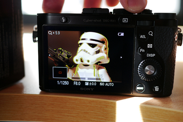 Sony RX1  focus peaking