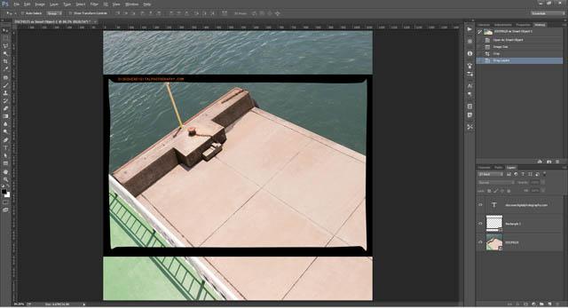 Square image with 3:2 aspect ratio film border