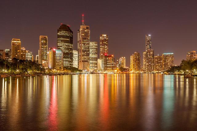 Brisbane CBD Night - Long exposure captured using a tripod and mirror lock-up
