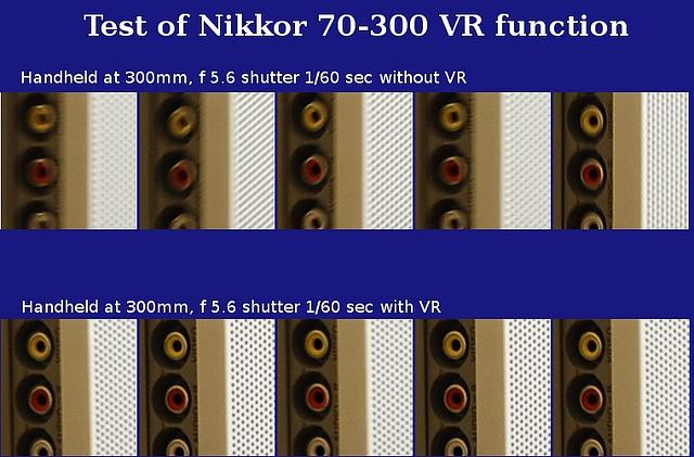 Test of Nikon VR function