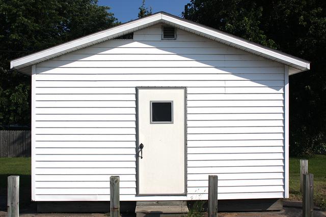 Simple white hut