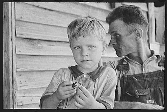 Photo of Charles Burroughs and Floyd Burroughs, Hale County, Alabama by Walker Evans