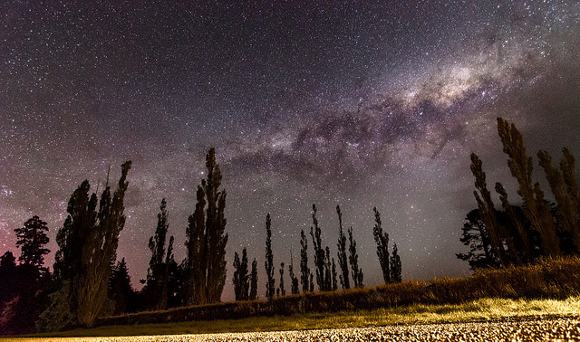 Milkway nightscape, taken using a DSLR with a high ISO and slow shutter speed settings