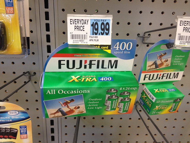 35mm film for sale in a shop