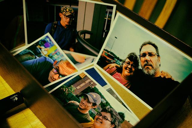 Shoebox of photo prints