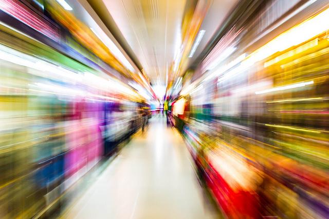 Speed of light - zoom blur photo
