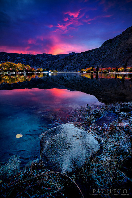 Sunrise at Autumn Intake, Bishop Ca. This photo was taken looking in the opposite direction to another group of photographers, who would have missed this scene.