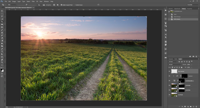 Using layers for exposure blending in Photoshop CC