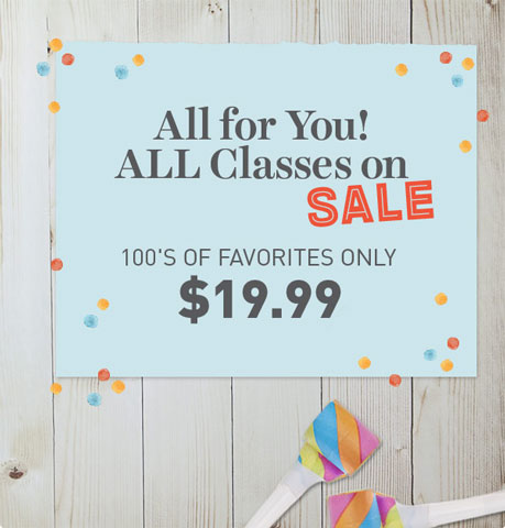 Craftsy Sale - All courses on sale, many from $19.99