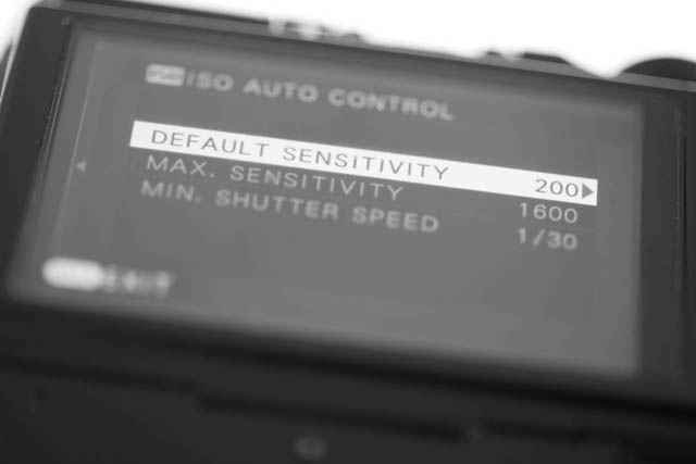 Auto ISO settings