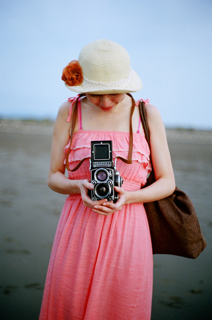Using a twin lens reflex camera