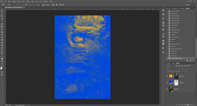 Highlight color layer and mask added in Photoshop CC