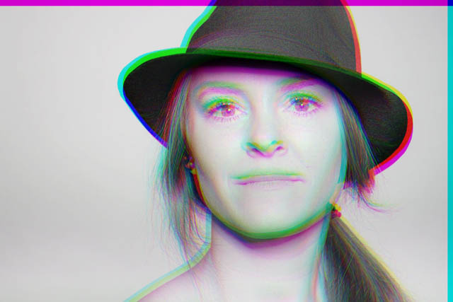 Portrait with offset color channels