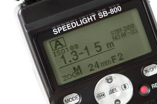 Nikon SB-800 speedlight flash in auto exposure mode