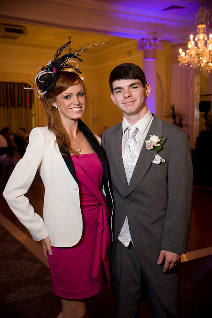 Portrait taken at a wedding using flash in TTL exposure mode