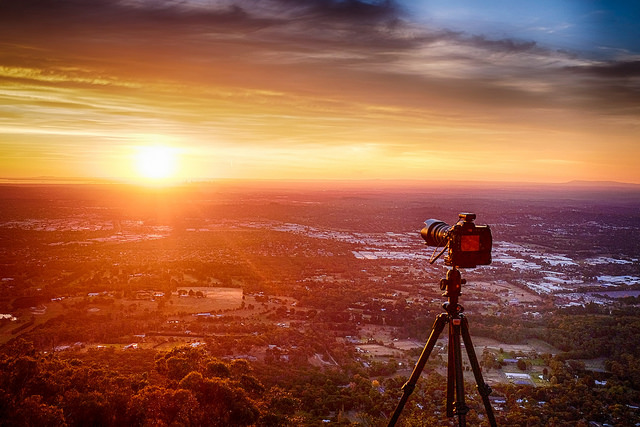 Capturing a capture - Mt Dandenong. Fuji X100s originally shot as jpeg but edited as a single image HDR in Nik HDR Efex Pro.