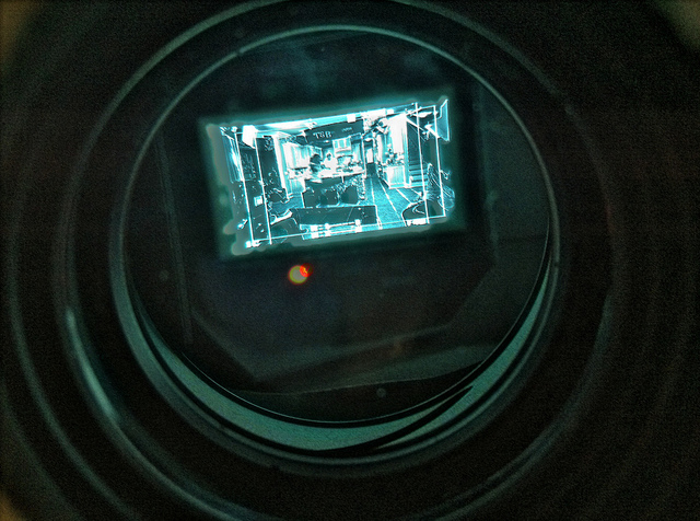 View through an EVF