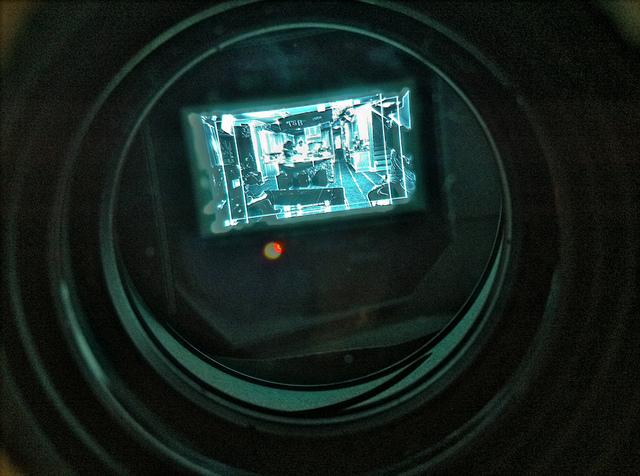 View through an EVF