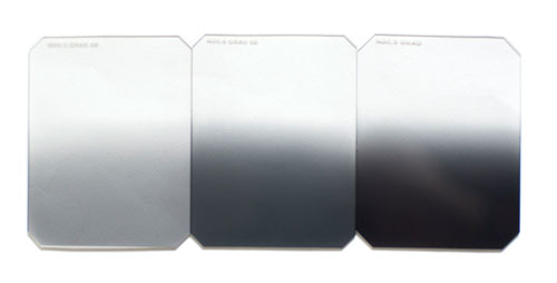 Graduated split neutral density filters – ND0.3, ND0.6 and ND0.9